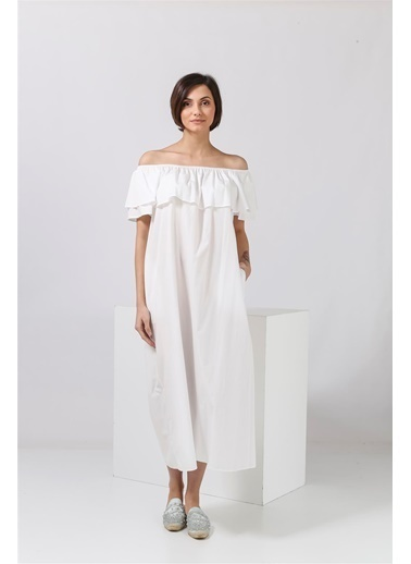 Mr&Mrs İtaly Elbise Beyaz